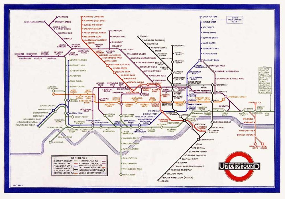 世界で最も有名な路線図 『ロンドン地下鉄路線図』 | スタッフブログ|dis-ドアズインターネットサービス|WEB(ホームページ)制作、作成・SEO・FLASH・ビジネスブログ・ユーザビリティ・アクセシビリティ|神戸・大阪